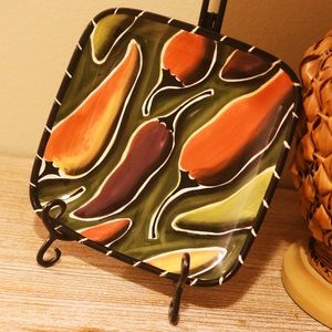 Other - Southwestern Hand Painted Chili Pepper Plate